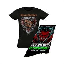 Unantastbar - ROCKT-DEIN-LEBEN, Girl-Shirt + Ticket Bundle