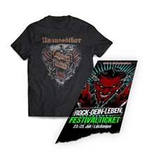 Unantastbar - ROCKT-DEIN-LEBEN, Girl-Shirt + Ticket Bundle