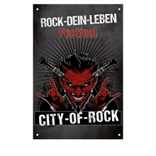 ROCK-DEIN-LEBEN - City of Rock, Fahne